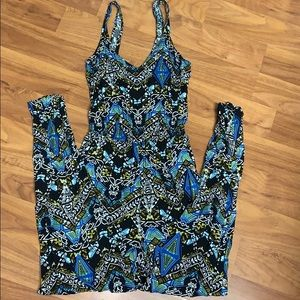 NWOT Forever 21 Printed Jumpsuit with Pockets